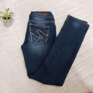 Silver jeans suki slim size 28